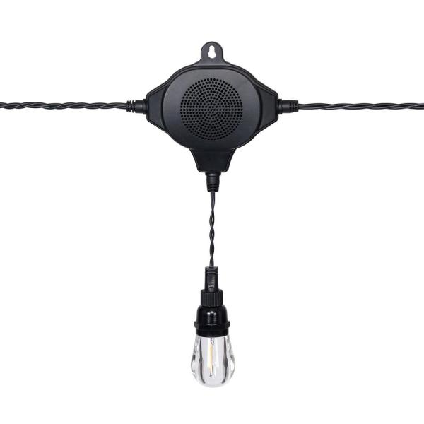 Outdoor/Indoor 36 ft. 18-Bulb Filament LED String Light with Bluetooth Speaker