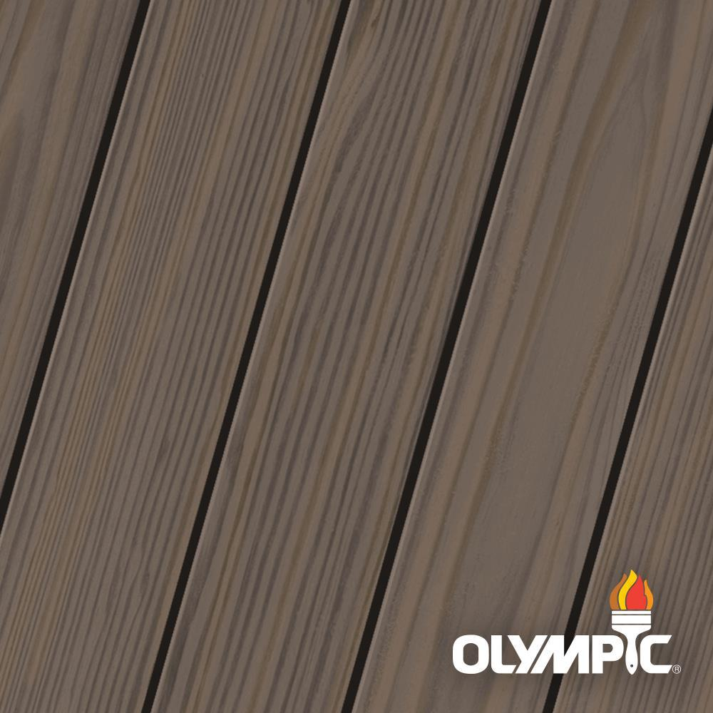 Olympic Elite 8-oz. Oxford Brown EST713 Semi-Transparent Exterior Stain and Sealant in One Low VOC