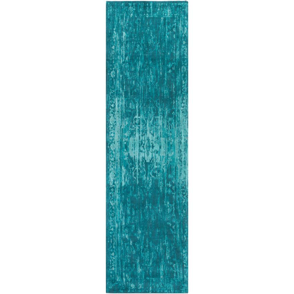 Elegant Maya Turquoise 2 ft. 3 in. x 12 ft. Indoor Runner