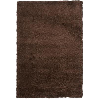 California Shag Brown 4 ft. x 6 ft. Area Rug