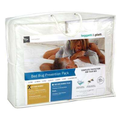 SleepSense Bed Bug Prevention Pack with InvisiCase Polyester Queen Mattress and Box Spring Protector Bundle