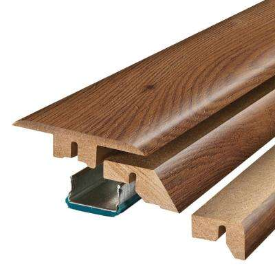 Homestead Oak 3/4 in. Thick x 2-1/8 in. Wide x 78-3/4 in. Length Laminate 4-in-1 Molding