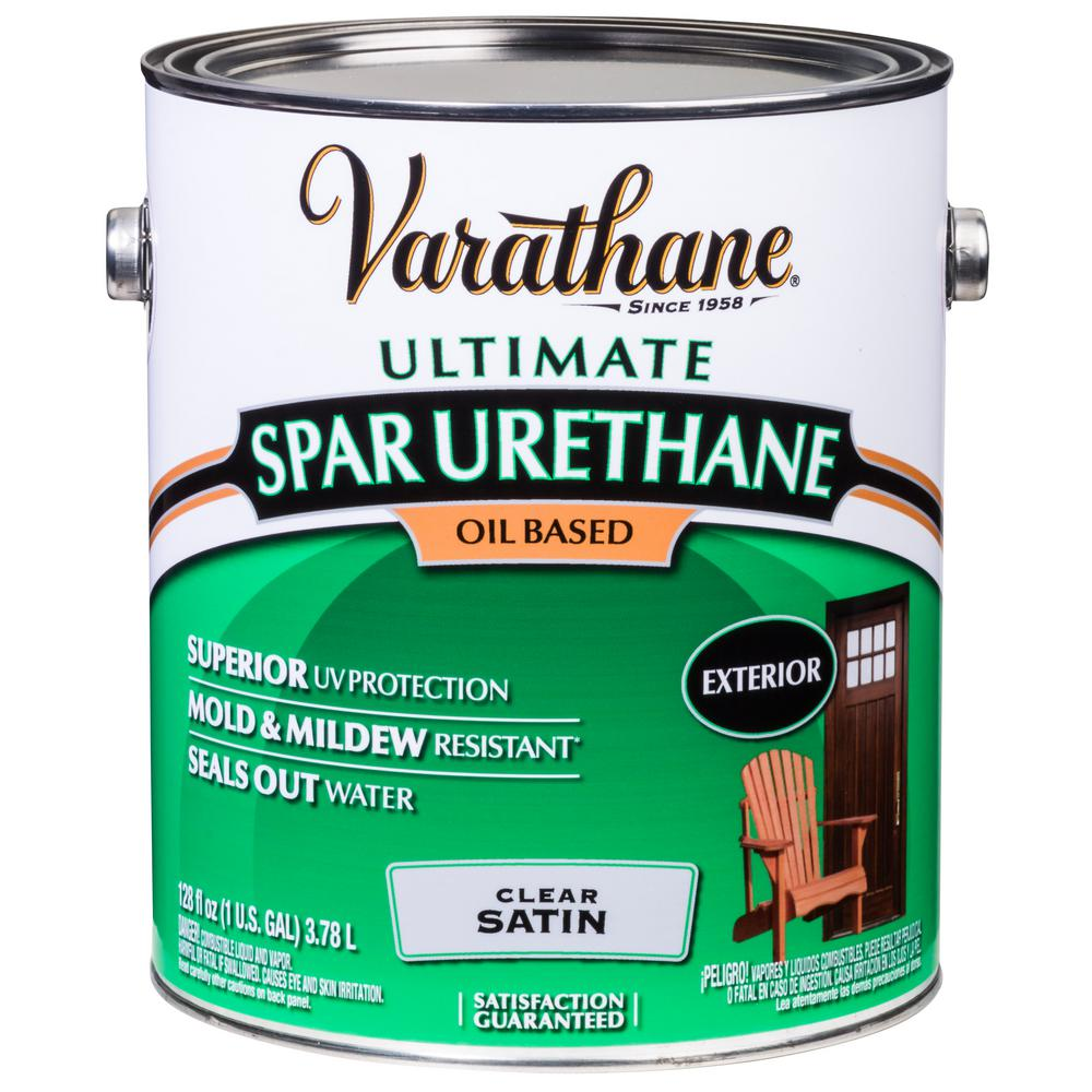 1 gal. Clear Satin 350 VOC Oil-Based Exterior Spar Urethane
