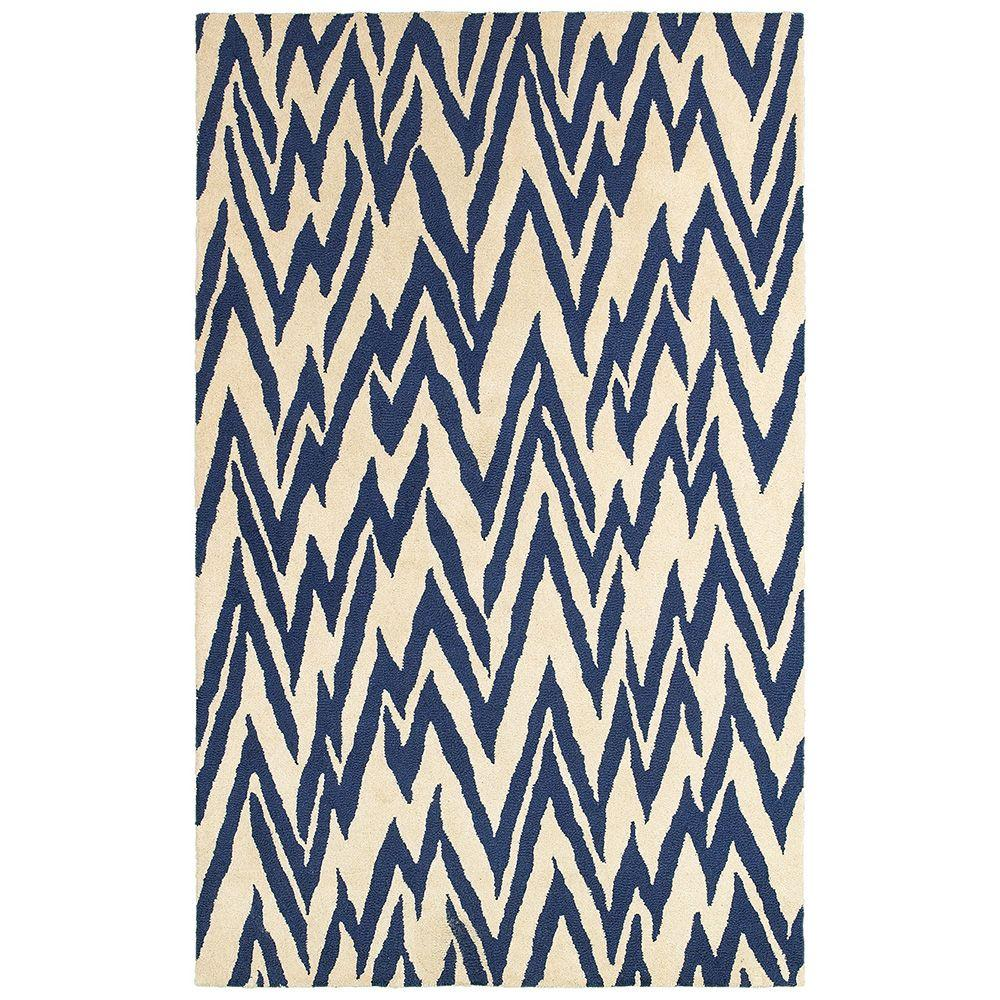 LR Resources Dazzle Beige/Blue 8 ft. x 10 ft. Indoor Area Rug