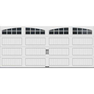 Gallery Collection Insulated Long Panel Garage Door with Arch Window