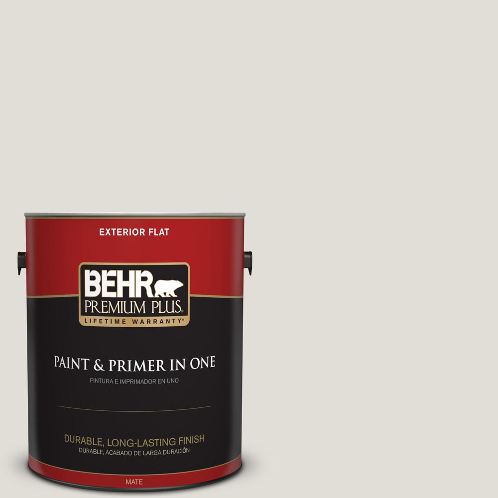 1 gal. #PPU24-15 Mission White Flat Exterior Paint