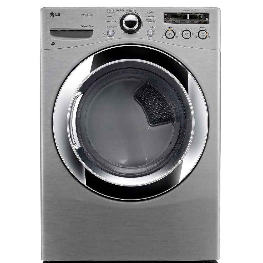LG Electronics 7.3 cu. ft. Electric Dryer with Steam in Graphite Steel