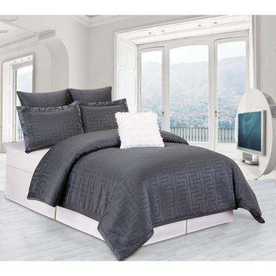 Schillman Grey 6-Piece Queen Comforter Set