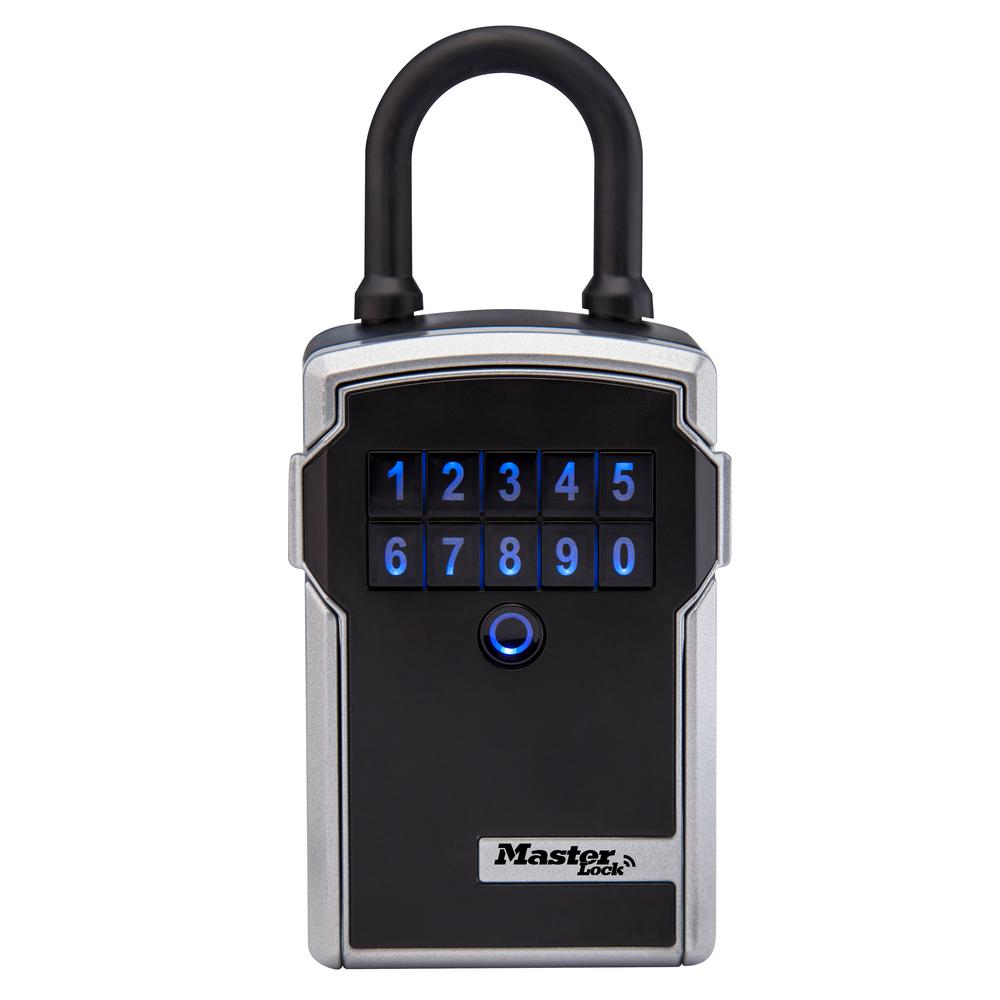 Bluetooth 3-1/4 in. Wide Zinc Portable Lock Box with Personal Use
