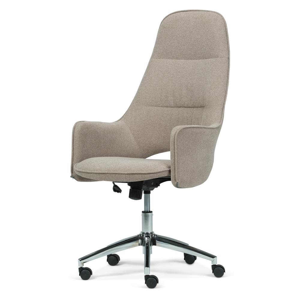 simpli home zara taupe large swivel office chair axcochr 01 the