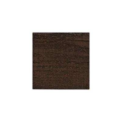 6 in. x 6 in. Rough Sawn Espresso Endurathane Faux Wood Ceiling Beam Material Sample