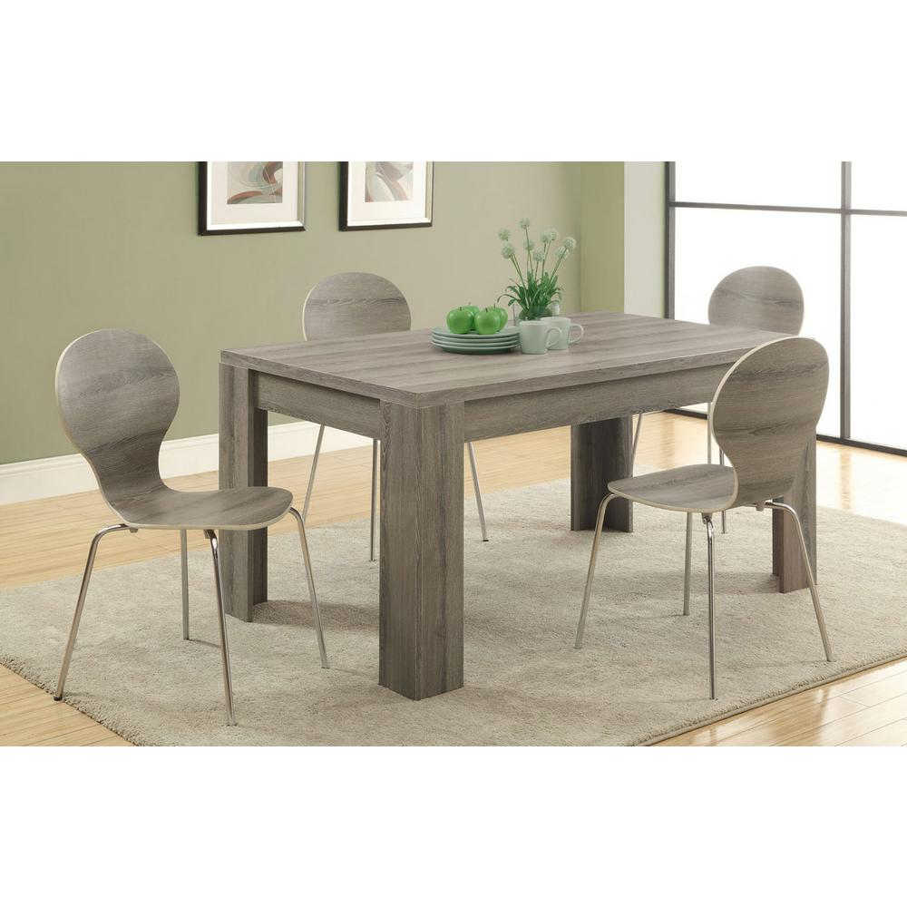 Monarch Specialties Dark Taupe Dining Table