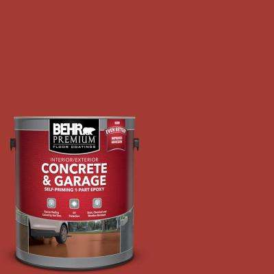1 gal. #PFC-03 Red Baron Self-Priming 1-Part Epoxy Satin Interior/Exterior Concrete and Garage Floor Paint