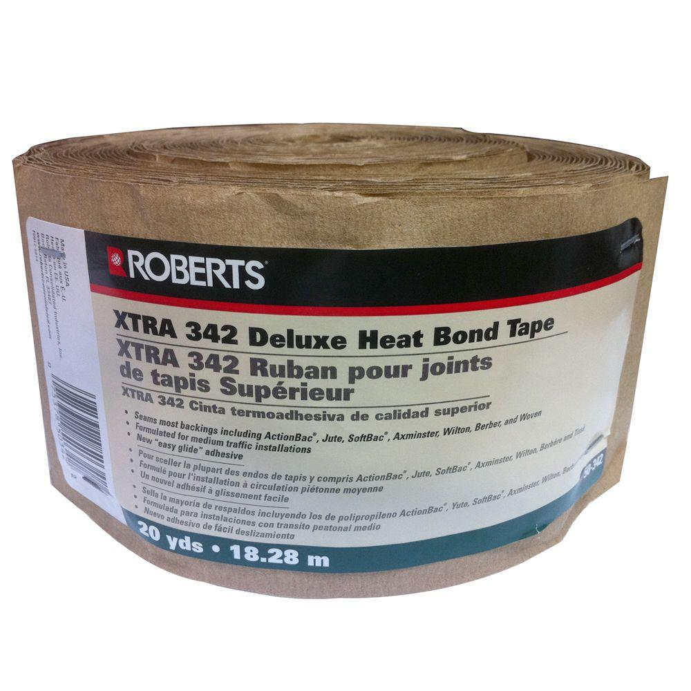 Roberts 50-342, 3.625 in. wide, 10 Rolls of Xtra 340 Heat Bond Carpet Seaming Tape-DISCONTINUED
