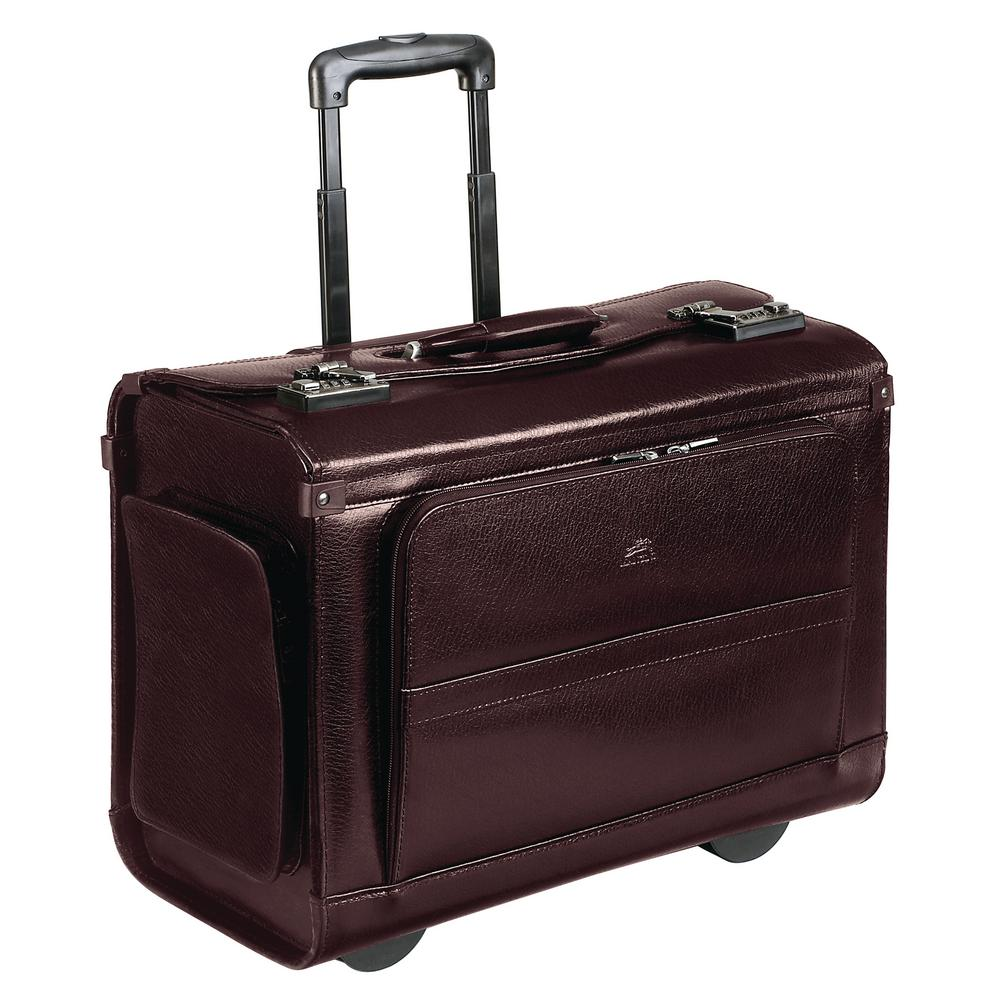19 in. Burgundy (Red) Wheeled Catalog Case