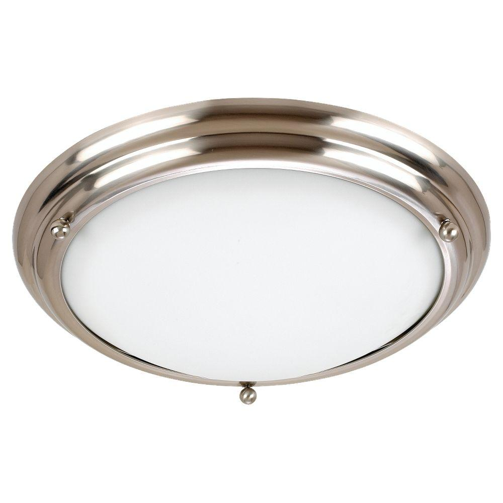 Sea Gull Lighting Centra 3-Light Brushed Stainless Flush Mount was $67.95 now $19.97 (71.0% off)