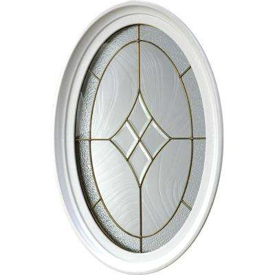 20 in. x 28.75 in. Geometric Vinyl Window - White
