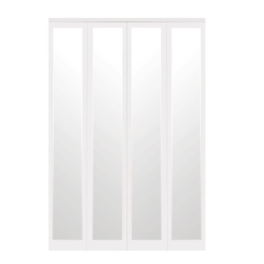 Impact plus 47 in x 80 in mir mel white mirror solid for Mirror 80 x 80