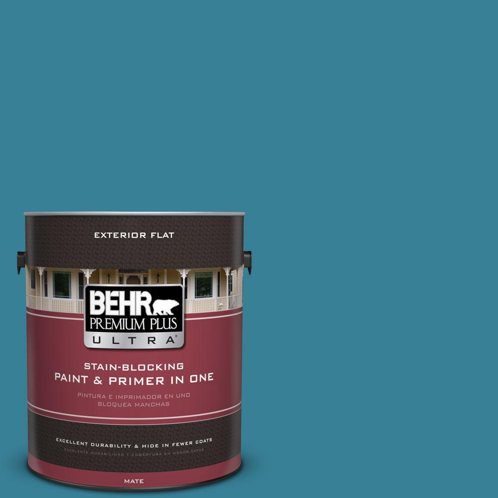 1 gal. #540D-6 Wipeout Flat Exterior Paint