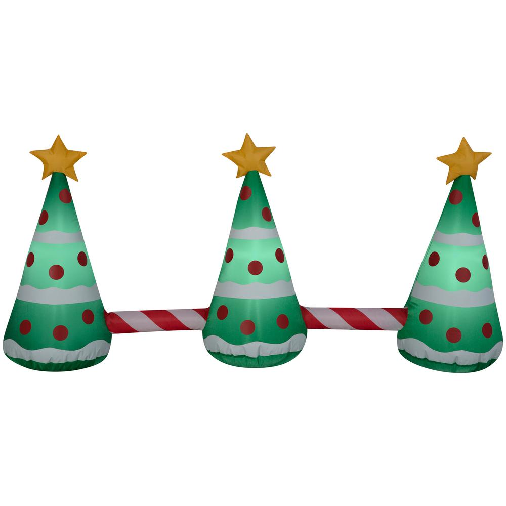 Inflatable Christmas Tree.National Tree Company 2 Ft Inflatable Animated Pathway Trees