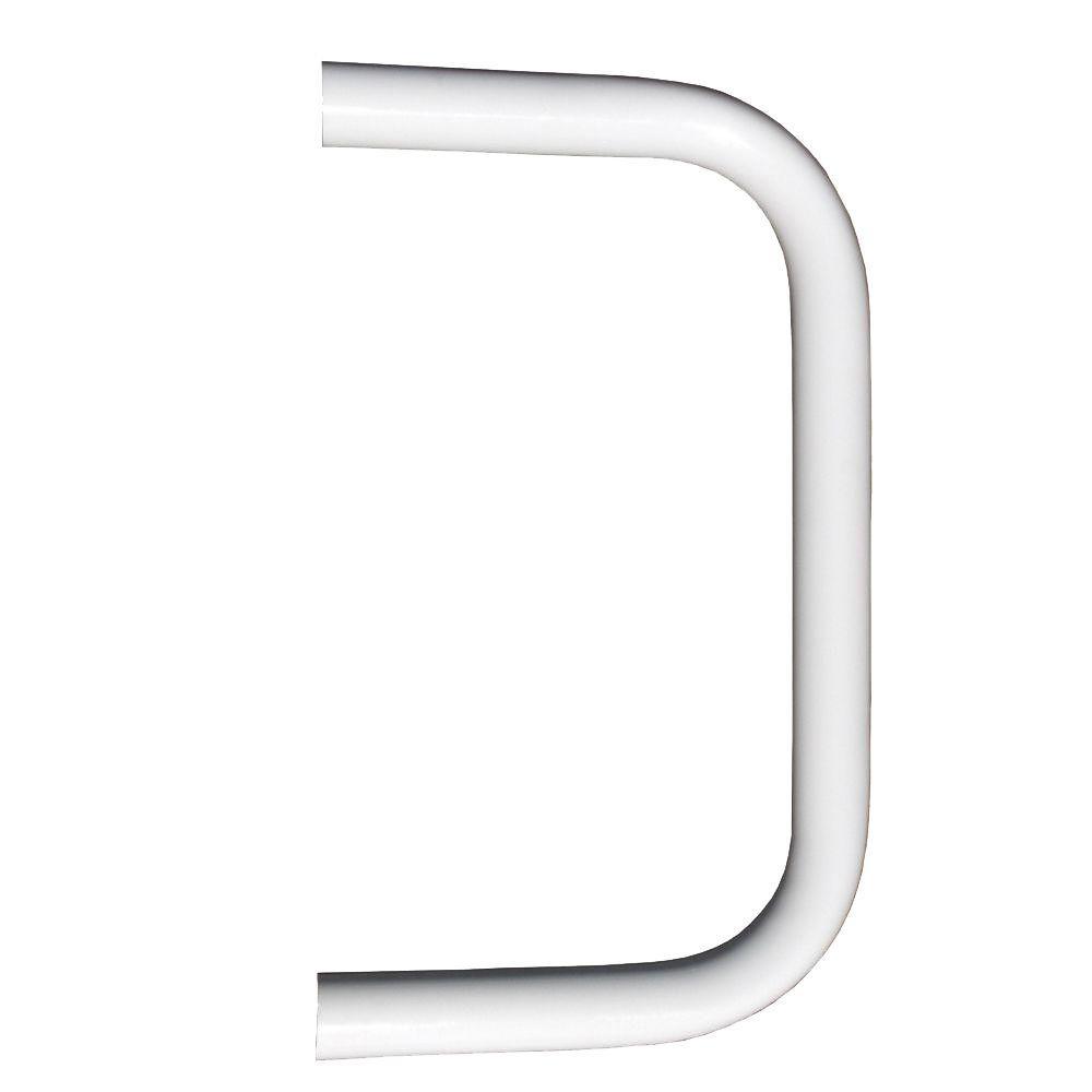 EZ Handrail 1.9 in. Aluminum Round ADA Handrail White End Loop
