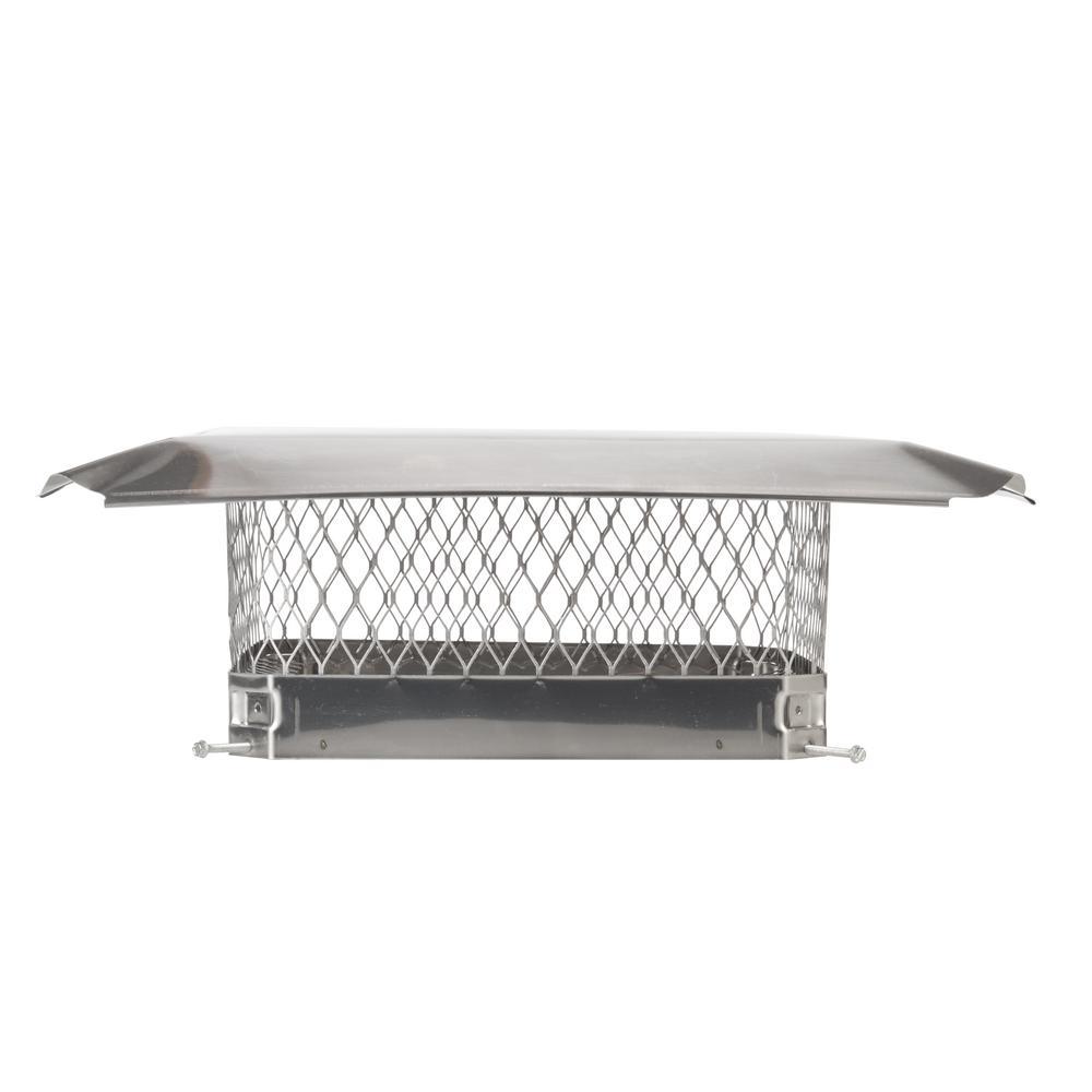 15 in. x 15 in. Bolt-On Single Flue Chimney Cap in Stainless Steel