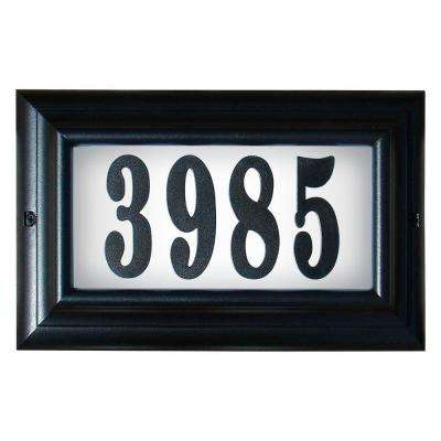 Edgewood Large Aluminum Lighted Address Plaque