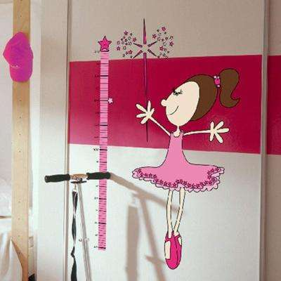 36 in. H x 36 in. D 13-Piece Fairy Measuring Tape Wall Sticker (2-Sheets)