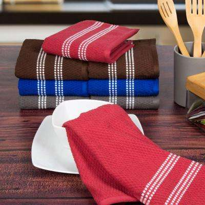 Cotton Towel Set in Multi-Colors (8-Piece)