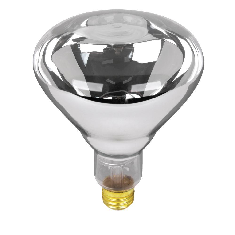 125-Watt Clear BR40 Dimmable Incandescent 120-Volt Infrared Heat Lamp Light Bulb (1-Bulb)