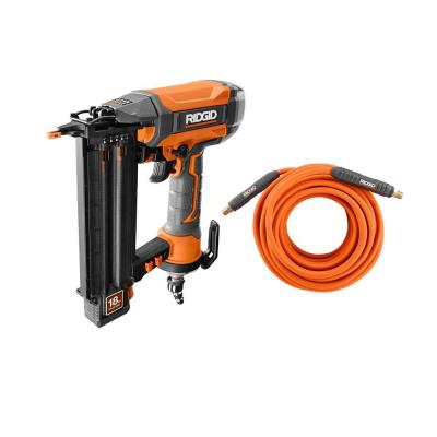 18-Gauge 2-1/8 in. Brad Nailer w/ CLEAN DRIVE Technology, Tool Bag, and Sample Nails w/ 1/4 in. 50 ft. Lay Flat Air Hose