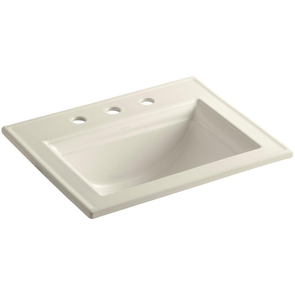 Memoirs Drop-In Vitreous China Bathroom Sink in Almond with Overflow Drain