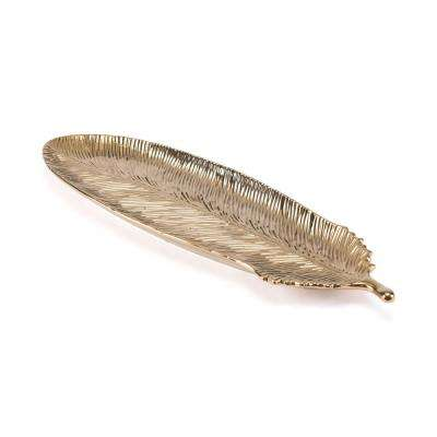 Gold Large Feather