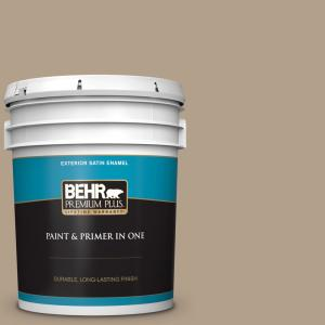 Behr Premium Plus 5 Gal Pwl 85 Stepping Stones Satin Enamel Exterior Paint And Primer In One 940005 The Home Depot