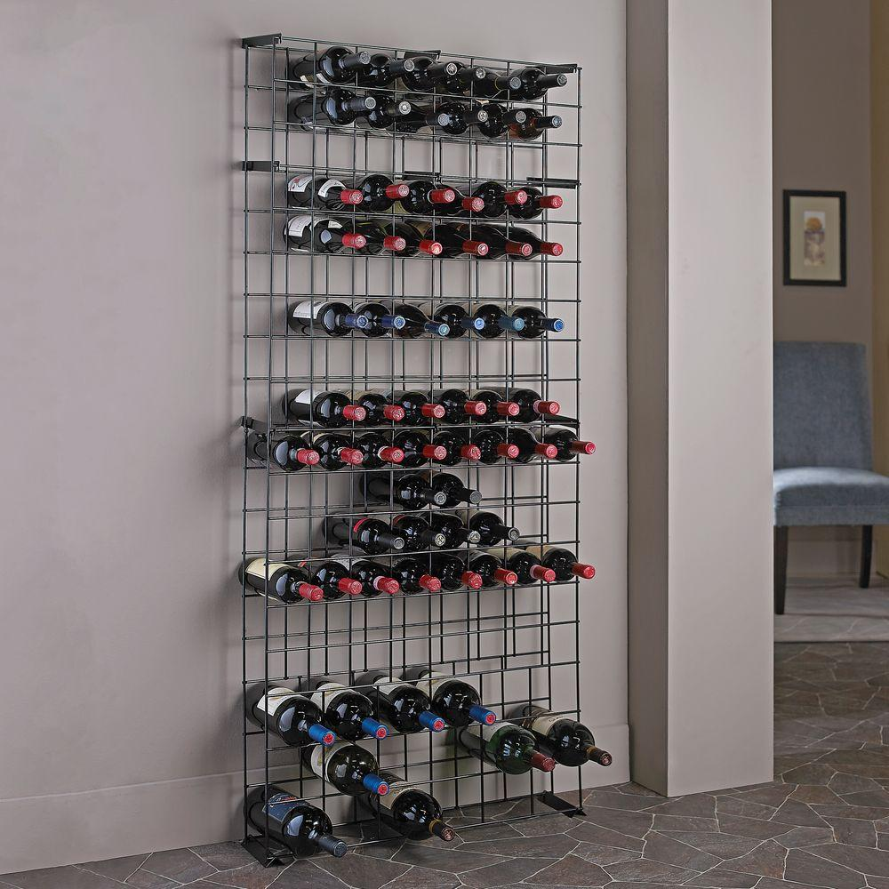 Wine Racks For Home ~ Wine enthusiast bottle black floor rack