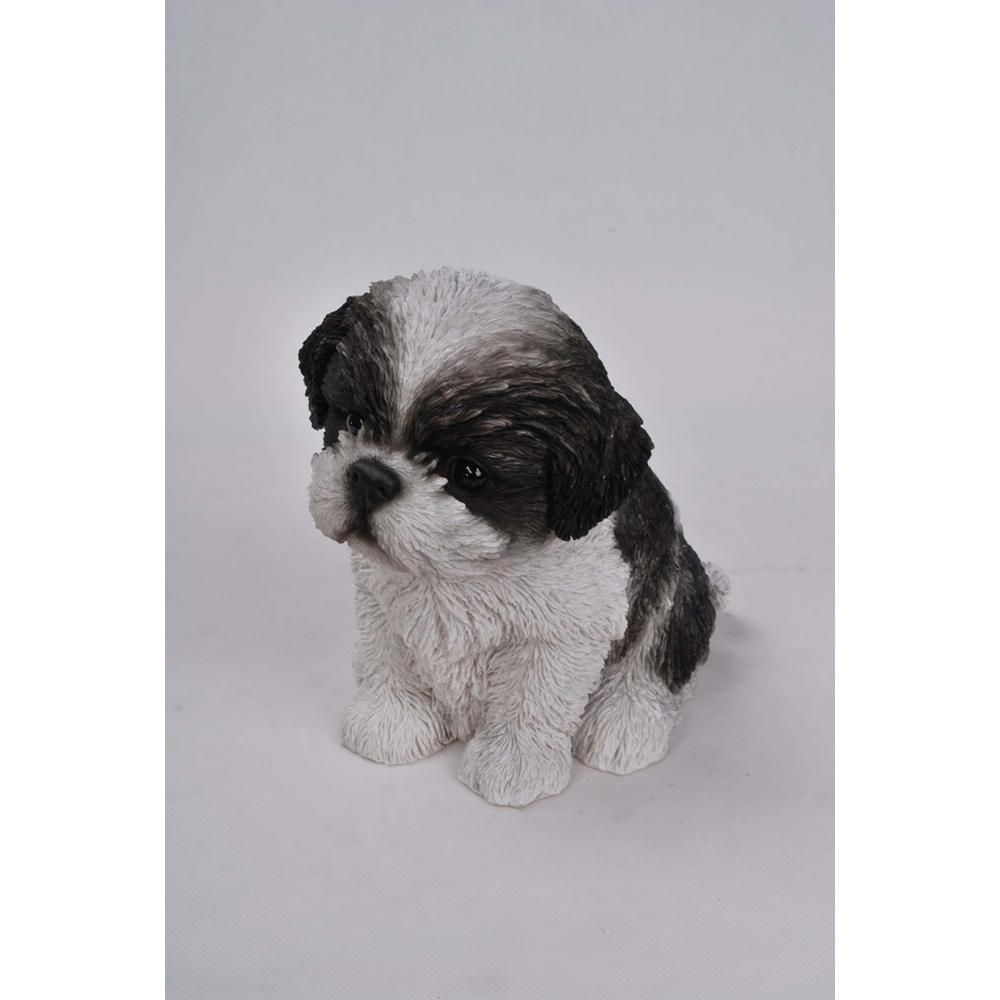 Hi-Line Gift Black/White Shih Tzu Puppy