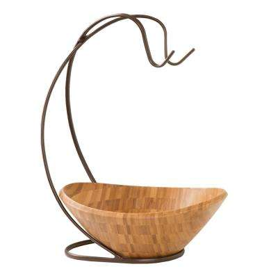 Bamboo Fruit Bowl with Banana Hook