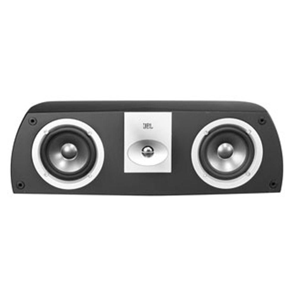 Leviton Architectural Edition Powered by JBL 75-Watt Dual 5 in. Dual Woofer 2-Way Shelf-Mount Center Speaker White-DISCONTINUED