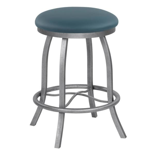 Taylor Gray Home Chester 26 in. Dillon Williamsburg Swivel Barstool B503H26BLUE