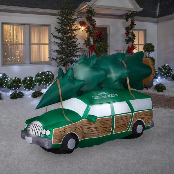 Unbranded 8 Ft Inflatable National Lampoons Christmas Vacation Station Wagon 114436 The Home Depot