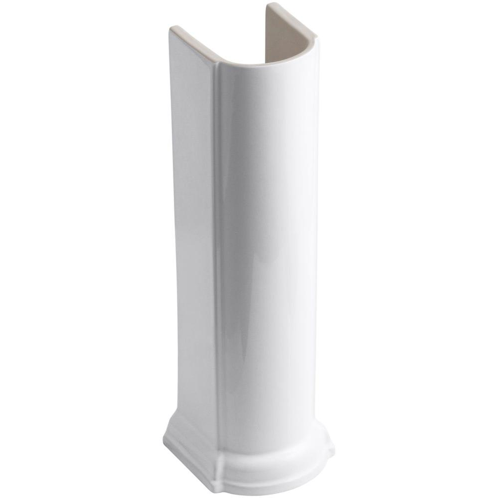 Devonshire Vitreous China Pedestal Only in White