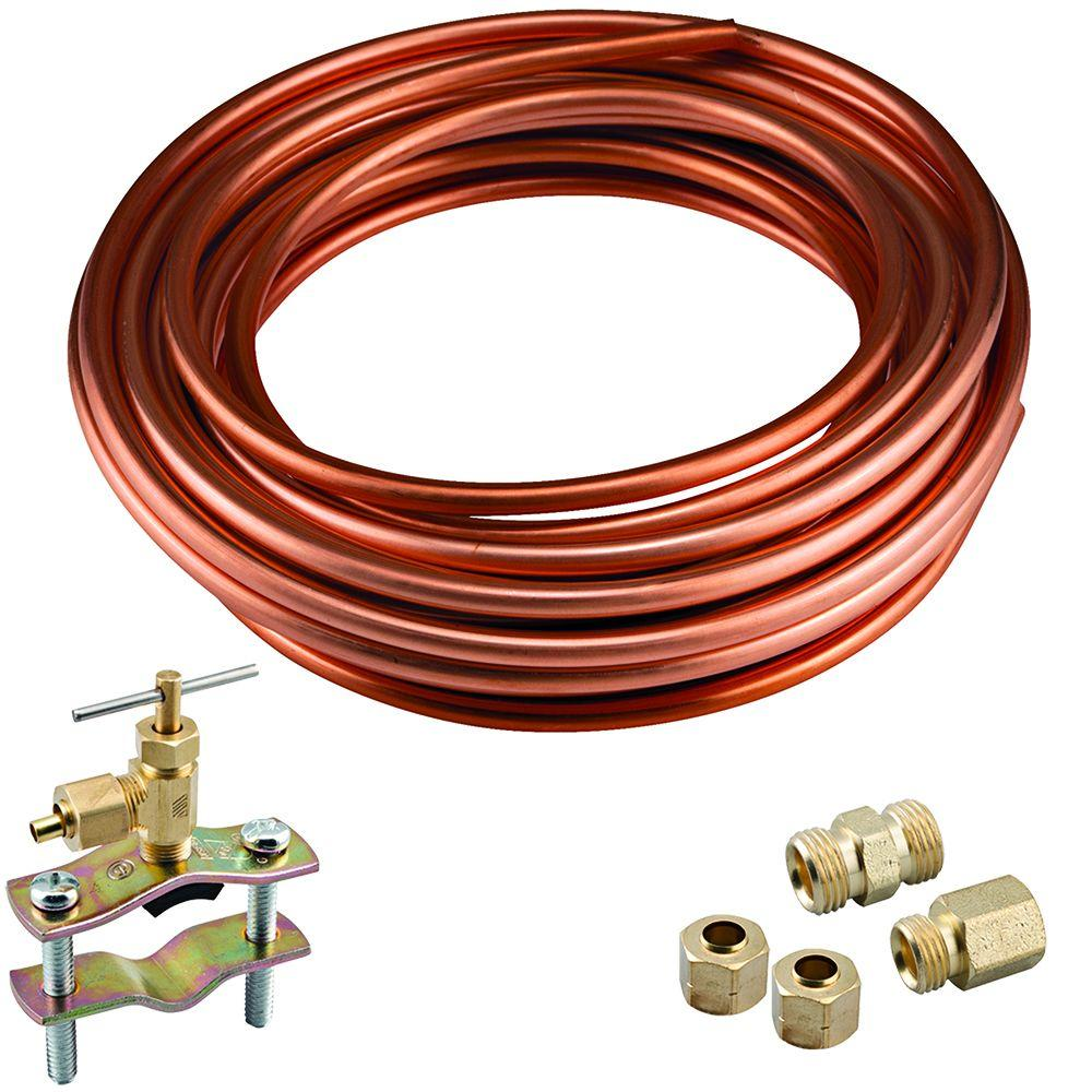 Watts 1/4 in. x 15 ft. Copper Icemaker Installation Kit