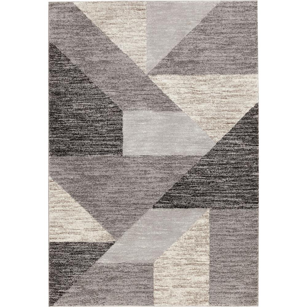Tash Grey 5 ft. x 7 ft. Geometric Area Rug