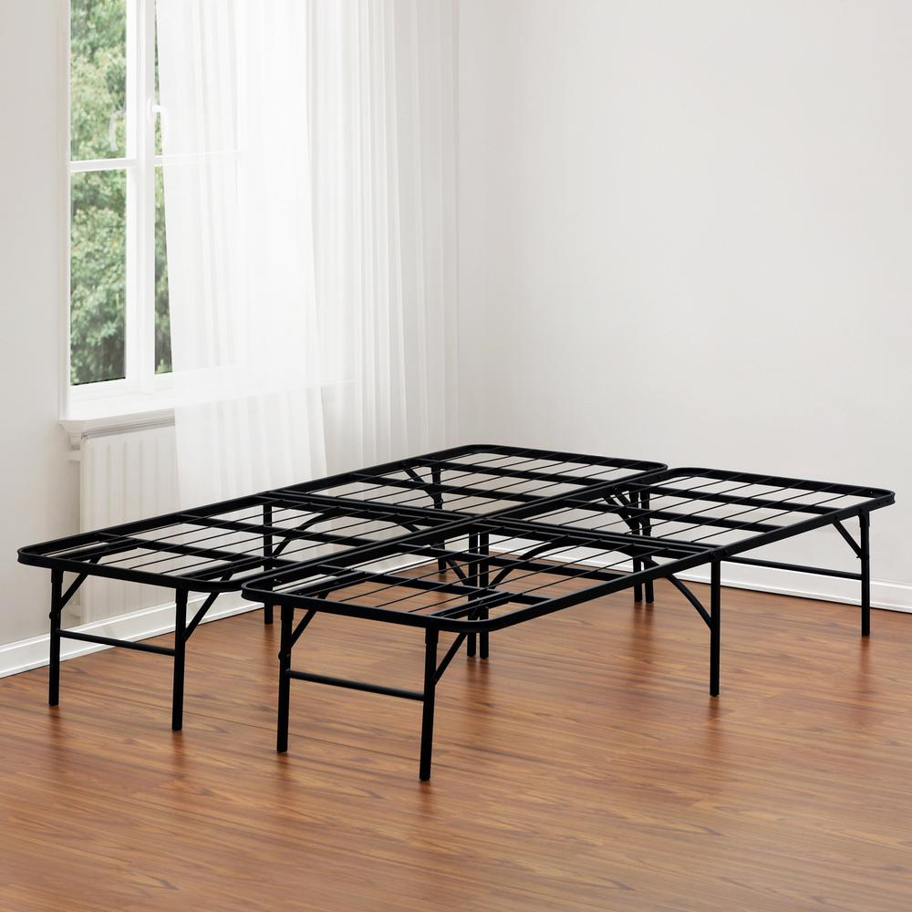 Malouf Structures High Rise Queen Metal Bed Frame-ST22QQHR - The ...