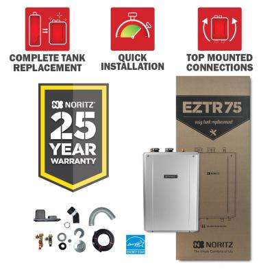 75 Gal. Tank Replacement-Natural Gas Hi-Efficiency Indoor Tankless Water Heater