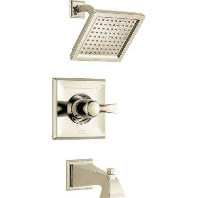 Dryden 1-Handle Tub and Shower Faucet Trim Kit Only in Polished Nickel (Valve Not Included)