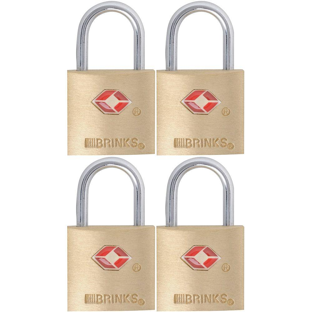 7/8 in. (22 mm) Brass Keyed Lock (4-Pack)