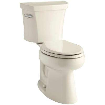 Highline 2-piece 1.6 GPF Single Flush Elongated Toilet in Almond, Seat Not Included