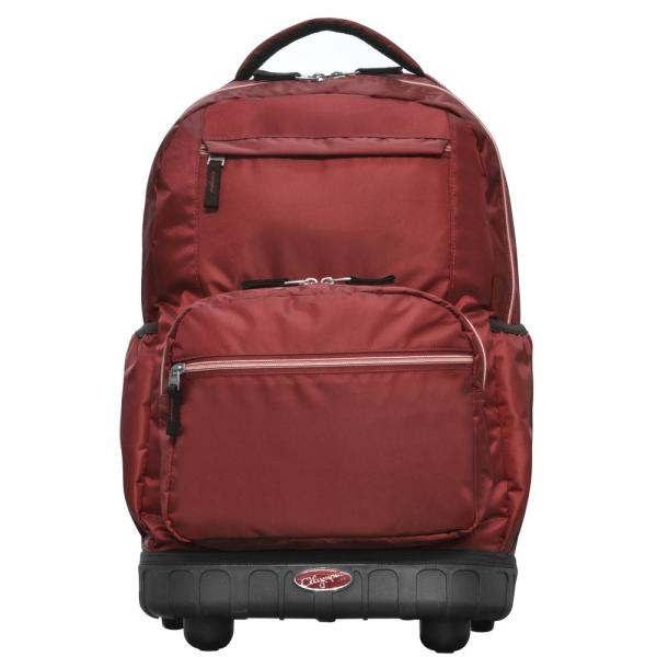 Olympia USA Melody 19 in. Burgundy Rolling Backpack RP-6001-BG