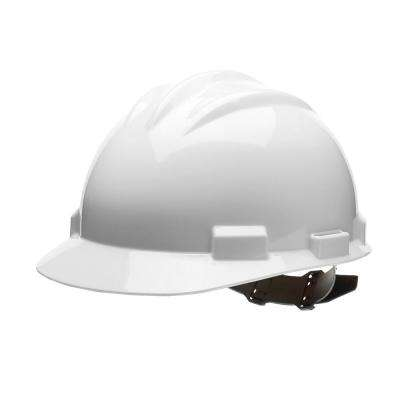 White 4 Point Pinlock Suspension Cap Style Hard Hat